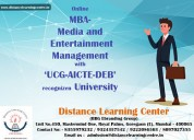 Mba- media and entertainment management