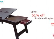 Up to 51% off study and laptop tables