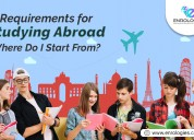 What are requirements for studying abroad ?