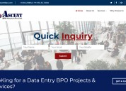 Ascent bpo services (data entry projects)
