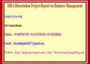 Mba dissertation project report on business manage
