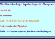 Mba dissertation project report on cooperative man