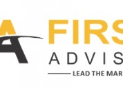 First adviser (firstadvsier in) stock  intraday tr