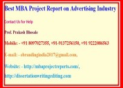 Best mba project report on advertising industry