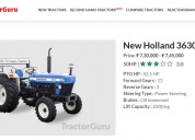 New holland 3630 price and specifications