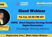Free webinar on cloud adoption strategy