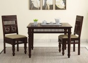 Adorable range of wooden dining table set 2 seater