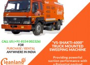 Cost-effective truck mounted sweeping machines