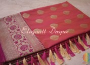 Digital printed organza sarees