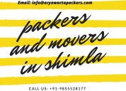 Packers and movers in shimla| 9855528177 |movers &