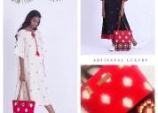 Buy online ikat handmade dresses, kurtas, bags