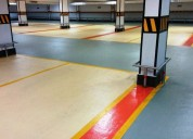 Epoxy anti slip paint for sports & parking areas.