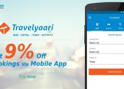 Flat 9% off bookings via mobile app