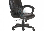 Adjustable low back office visitor chair