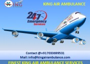Pick suitable king air ambulance service in bhopal