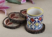 Coaster sets online at best prices - wooden street