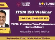 Free itsm webinar on predicting team performance