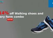 14% off walking shoes + memory foam