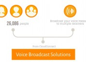 Get voice broadcasting services