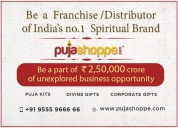 Get a franchisee of puja items