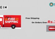 Free shipping on orders over rs.720