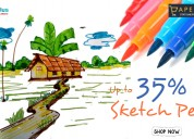 Up to 35% off sketch pens at the paper kart
