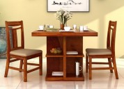 Wooden 2 seater dining table set online in india