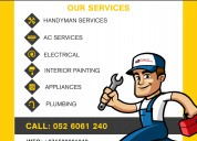 Home appliances repair & handyman services dubai