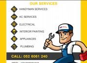 home appliances repair & handyman services dubai