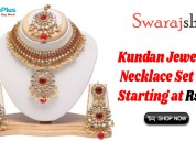Kundan jewelry necklace set starting at rs.460