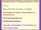 International student's challenge and adjustment t