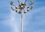 Stadium lighting high mast pole