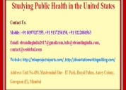 Studying public health in the united states