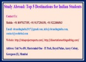 Study abroad: top 5 destinations for indian studen