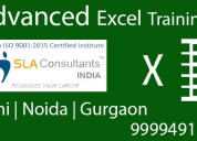 Advanced excel training at sla consultants noida