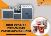 Manufacturing standards of paper cup machine
