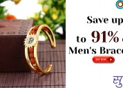Save up to 91% on men's bracelets
