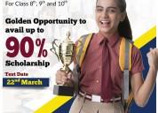 Enrol in kelvin scholarship test & earn upto 90% s