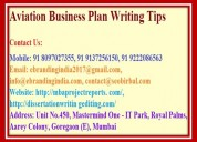 Aviation business plan writing tips