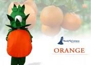 Orange santra kinnow fruit kids fancy dress