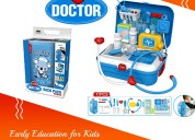 Kids doctor kit, 17 pcs (blue) | cleos