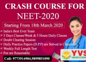 Crash course for neet 2020 in delhi
