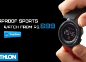 Waterproof sports watch from rs.699