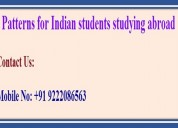 Patterns for indian students studying abroad