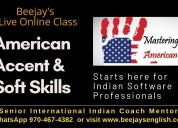 American accent training with one tutor for one