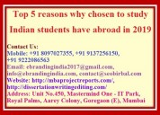 Top 5 reasons why chosen to study indian students