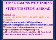 Top 5 reasons why indian students study abroad