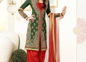 Collar neck salwar design at the best rate