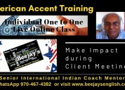 Online american accent & voice & accent training