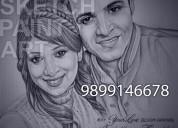 Best sketch portrait artist india 9899146678